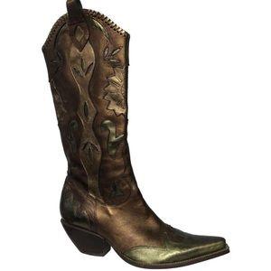 BCBGirls Boho Western Cowboy Metallic Boots